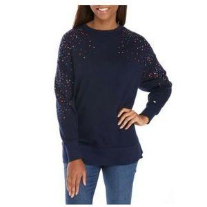 Long sleeve shine sweeper sweater